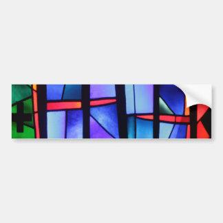 A colorful collage bumper sticker