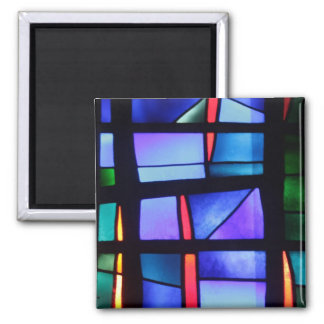 A colorful collage magnet