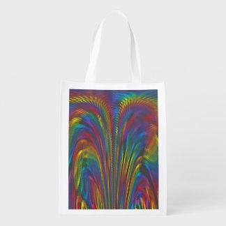 A Colorful Eruption Reusable Grocery Bag