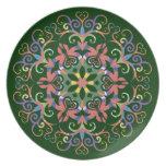 A colorful filigree Kaleidoscope Plate