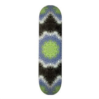 A colorful furry brush pattern skateboard deck