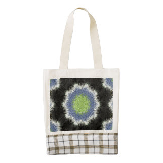 A colorful furry brush pattern zazzle HEART tote bag