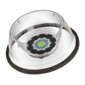 A colorful furry brush pattern pet bowl