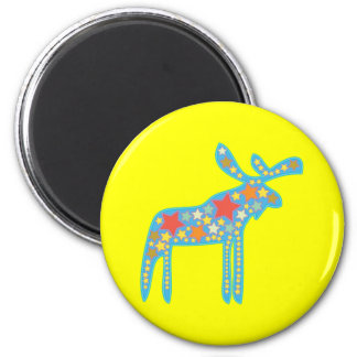 A Colorful Galactic Moose Refrigerator Magnet
