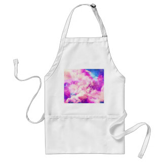 A Colorful Geometric Nebula Clouds Adult Apron