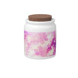 A Colorful Geometric Nebula Clouds Candy Dish