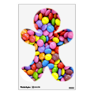 A colorful Gingerbread man wall decal Room Graphics