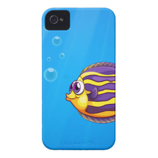 A colorful hungry fish under the sea Case-Mate iPhone 4 case