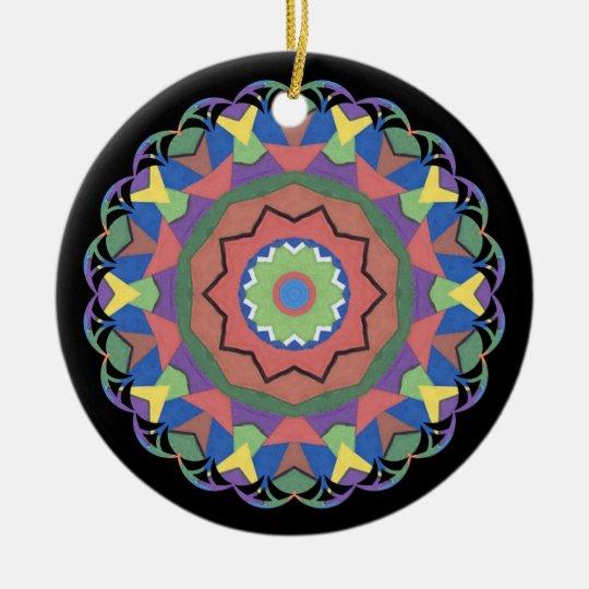 A Colorful Kaleidoscope Ornament