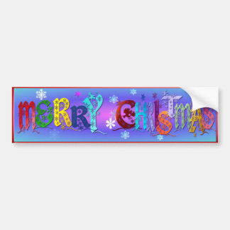 A Colorful Merry Christmas Bumper Sticker