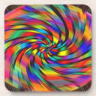 A Colorful Pinwheel Coasters