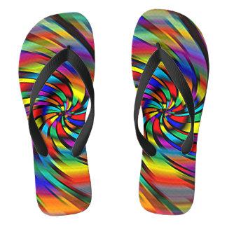 A Colorful Pinwheel Flip Flops