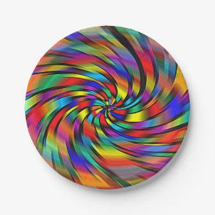 A Colorful Pinwheel Paper Plates  sc 1 st  Zazzle & Pinwheel Plates | Zazzle