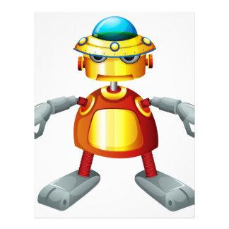 A colorful robot letterhead