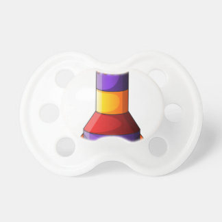 A colorful rocket BooginHead pacifier