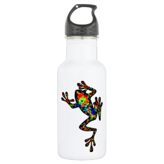 A COLORFUL SHOWING WATER BOTTLE