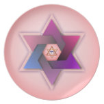 A colorful Star of David Design Decorative Plate