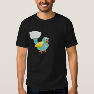 A colorful two-legged creature thinking shirt