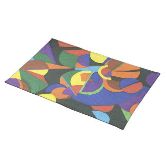 A colourful abstract design  American MoJo Placema Placemat