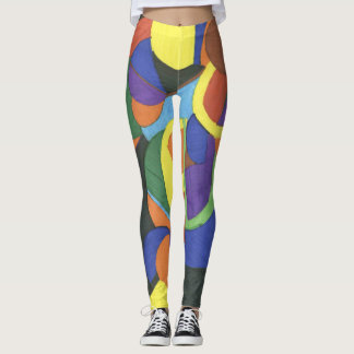 A colourful abstract design leggings
