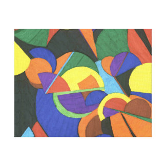 A colourful abstract design Wrapped Canvas Gallery Wrapped Canvas