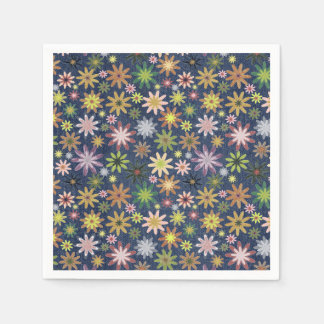 A colourful flower pattern paper napkin