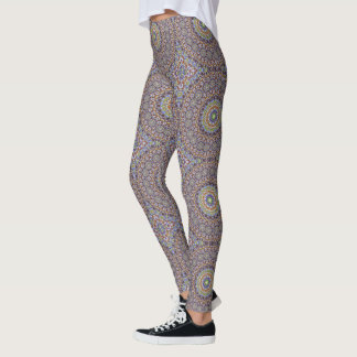 A colourful Paint Chip Kaleidoscope Pattern Leggings