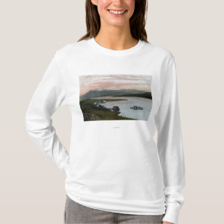 A Columbia River Riverboat Scene T-Shirt