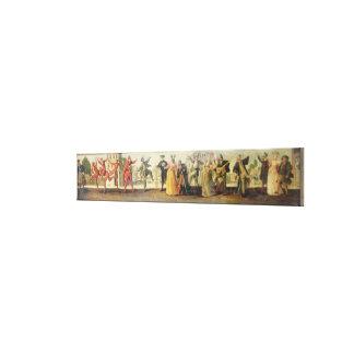 A Commedia Dell'Arte Troupe Before a Renaissance T Canvas Print