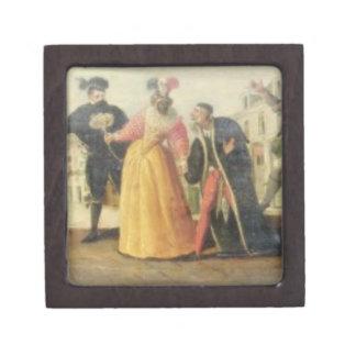 A Commedia Dell'Arte Troupe Before a Renaissance T Jewelry Box