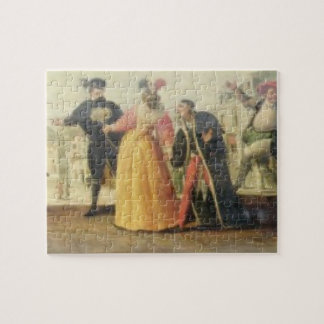 A Commedia Dell'Arte Troupe Before a Renaissance T Jigsaw Puzzle