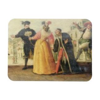A Commedia Dell'Arte Troupe Before a Renaissance T Magnet