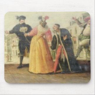 A Commedia Dell'Arte Troupe Before a Renaissance T Mouse Pad
