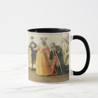 A Commedia Dell'Arte Troupe Before a Renaissance T Mug
