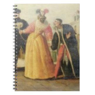 A Commedia Dell'Arte Troupe Before a Renaissance T Note Books