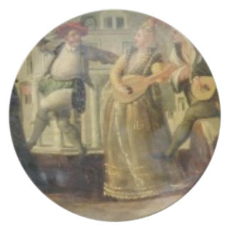 A Commedia Dell'Arte Troupe Before a Renaissance T Plate