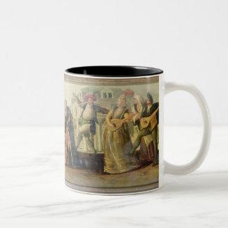 A Commedia Dell'Arte Troupe Before a Renaissance T Two-Tone Coffee Mug