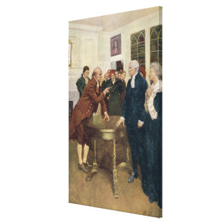 A Committee of Patriots Delivering an Ultimatum Canvas Print