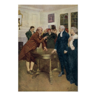 A Committee of Patriots Delivering an Ultimatum Poster
