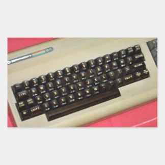 A Commodore 64 8-bit home computer Rectangle Sticker