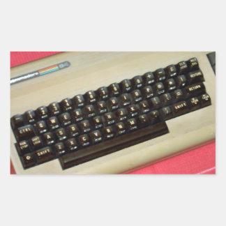 A Commodore 64 8-bit home computer Rectangular Stickers