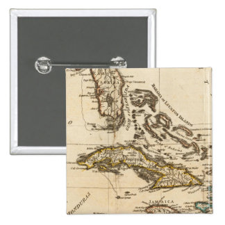 A Compleat Map of the West Indies Pinback Button