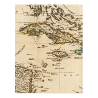 A Compleat Map of the West Indies Postcard