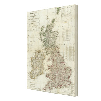 A complete map of the British Isles Canvas Print