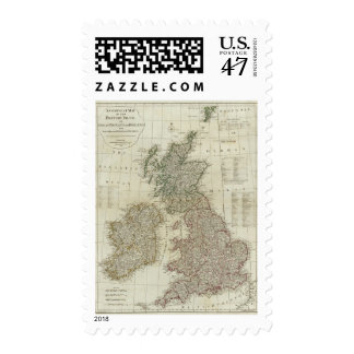 A complete map of the British Isles Postage