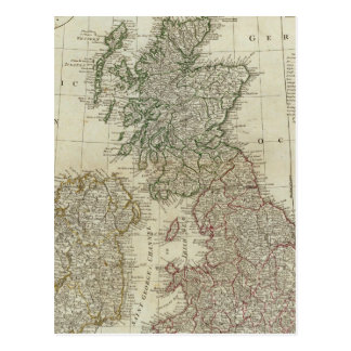 A complete map of the British Isles Postcard