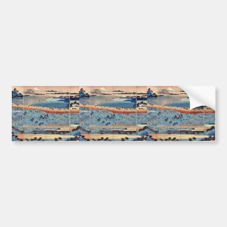 A complete view of Asukayama by Ando, Hiroshige Bumper Stickers