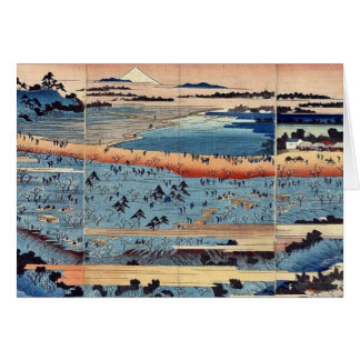 A complete view of Asukayama by Ando, Hiroshige Greeting Card