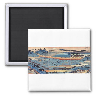 A complete view of Asukayama by Ando, Hiroshige Fridge Magnets