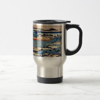 A complete view of Asukayama by Ando, Hiroshige 15 Oz Stainless Steel Travel Mug